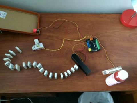 A Robotic Rube Goldberg Machine