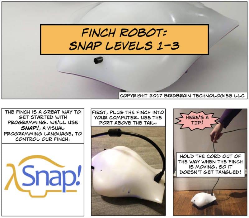 Finch Snap Jr Comic